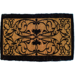 Entryways Extra-Thick Handwoven Coir Iron Gate Oriental Doormat, 36 x 72 Inch