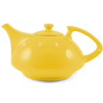 OmniWare TeazYellow Stoneware Athena 30 Ounce Teapot with Stainless Steel Mesh Infuser