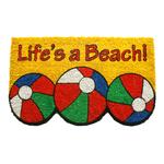 Entryways Life's A Beach Hand Woven Coir Beach Theme Doormat