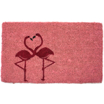 Entryways Flamingos Woven Coir 18 x 30 Inch Doormat