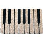 Entryways Piano Hand Woven Coir Doormat, 17 x 28 Inch