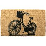 Entryways Bike Hand Woven Coir Doormat, 17 x 28 Inch