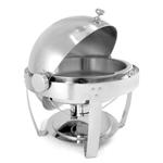 Stainless Steel Round 6 Quart Chafing Dish - Minor Scratch N' Dent