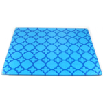 Tempered Blueberry Royale Glass Rectangular Cutting Board, 12 x 15 Inch