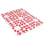 Strawberry Patchwork Tempered Glass Rectangular Cutting Board, 12 x 15 Inch