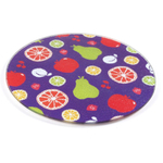 Fruit Salad Tempered Glass Round Cutting Board, 8 Inch