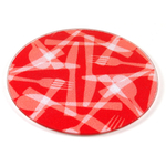 Strawberry Flatware Tempered Glass Round Cutting Board, 8 Inch