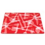 Strawberry Flatware  Design Tempered Glass Rectangular Cutting Board, 8 x 10 Inch