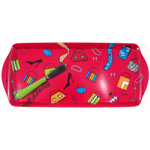 Lolita Melamine Love My Party Shopaholic Hostess Tray and Spreader Set, 15 x 6.5 Inch