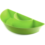 Outset Citrus Green Melamine Double Dipper Serving Platter