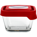Anchor Hocking TrueSeal 2 Cup Rectangular Food Storage Container with Red Lid