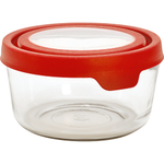 Anchor Hocking TrueSeal Glass 7 Cup Round Storage Container with Red Lid