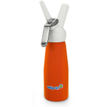 Whip-It Orange Rubber Coated Aluminum Gourmet Cream Whipper, 8 Ounce