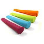 HIC Harold Import Co Multicolored Silicone 4 Piece Ice Pop Maker Set