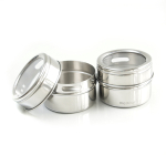 Mastrad Stainless Steel Magnetic Spice Jar, Set of 2