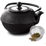 Primula Black Hammered Cast Iron Tea Pot, 36 Ounce