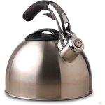 Primula Stainless Steel Soft Grip Whistling Stainless Steel Tea Kettle, 3 Quart