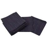 Park B Smith Cortina Navy Blue 100% Cotton Cloth Dinner Napkin, Set of 12