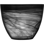SEAglasbruk Black and White Large Black Glass Bowl