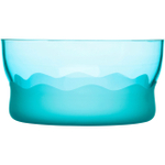 SEAglasbruk Aqua Wave Turquoise Glass Serving Bowl