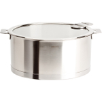 Cristel Strate L Stainless Steel 4 Quart Stewpan with Glass Lid
