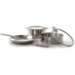 Cristel Casteline Multiply 18/10 Stainless Steel 7 Piece Cookware Set with Removable Handles