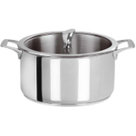 Cristel Multiply Stainless Steel 4.5 Quart Stewpan with Glass Lid