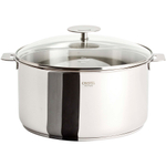 Cristel Multiply Stainless Steel 7.5 Quart Stewpan with Glass Lid