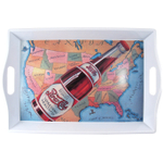 Pepsi Cola Rectangular USA Map Serving Tray with Handles