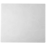 Modern Twist Pebbles White Silicone Placemat, 14 x 16 Inch
