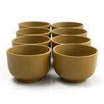 Dark Mustard Yixing 3 Ounce Teacup, Set of 8