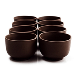 Dark Chocolate Yixing 3 Ounce Teacup, Set of 8