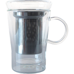 Double Wall Glass with Strainer, 11 Ounce