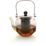 Borosilicate Glass Teapot with Metal Strainer, 20 Ounce