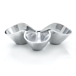 Nambe Bella Triple Condiment Server, 11 Inch x 7.5 Inch