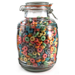 Grant Howard Glass Cracker Barrel Jar, 108 Ounce
