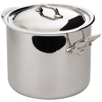 Mauviel M'Cook Ferretic Stainless Steel Stock Pot, 9.1 Quart