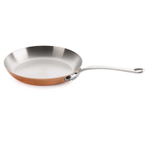 Mauviel M'Heritage 150S Copper and Stainless Steel Frypan with Cast Iron Handle, 11.8 Inch
