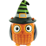 Boston Warehouse All Owl's Eve Witch Earthenware Cookie Jar