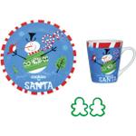Boston Warehouse Sweater Snowman Cookies for Santa 4 Piece Set