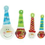 Boston Warehouse Sweater Snowman Earthenware 4 Piece Measuring Spoon Set