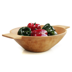 Sobremesa Fairtrade Hand Made Higuerilla Wood Handled Serving Bowl, 12 Inch
