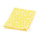 Sobremesa Fairtrade Fez Collection Handmade White and Yellow Cotton Napkin, Set of 4