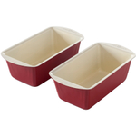 Nordic Ware Pro Form Colors Bakeware Red Aluminum Mini Loaf Pan, Set of 2