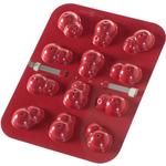 Nordic Ware Snowman Red Aluminum Cake Pops Pan