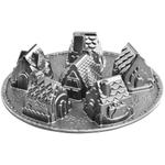 Nordic Ware Platinum Aluminum Cozy Village Cake Pan