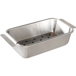 Nordic Ware Naturals Aluminum Steel Meat Loaf Pan with Lifting Trivet, 10 x 3 Inch