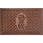 Entryways Weather Beater Chocolate Pineapple Mat, 22 X 35 Inch