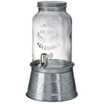 Artland Masonware 1.5 Gallon Distressed Galvanized Steel Beverage Dispenser