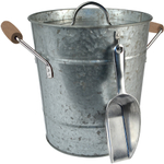 Artland Oasis Distressed Galvanized Steel Ice Bucket and Scoop